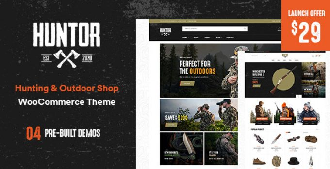 Huntor - Hunting & Outdoor Shop WooCommerce theme