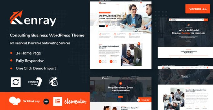 Kenray – Consulting Business WordPress Theme