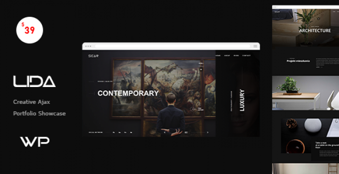 Lida - Ajax Portfolio WordPress Theme