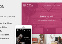 Ricca - A Fresh Responsive Theme For Creatives