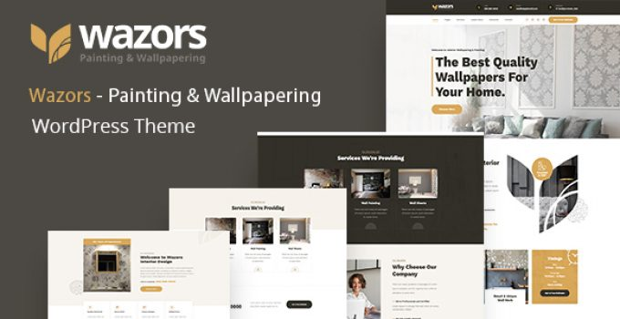 Wazors - Painting & Wallpapering WordPress Theme