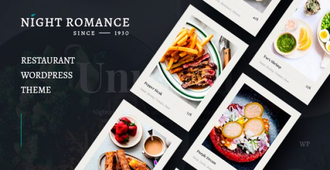 Nightromance - Restaurant WordPress Theme