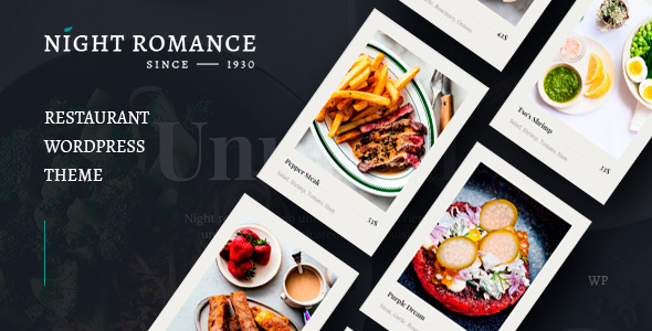 Nightromance - Restaurant WordPress Theme FREE Download | wpnull24