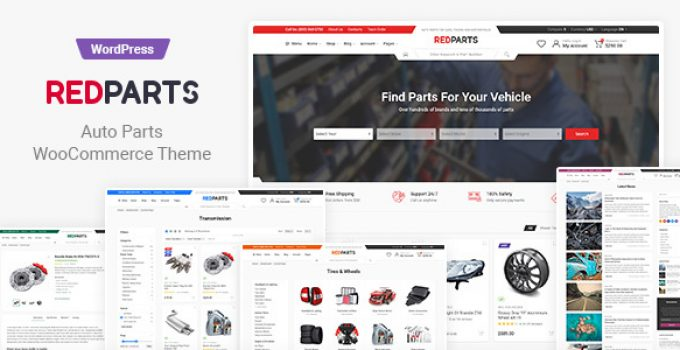 RedParts - Auto Parts WordPress Theme