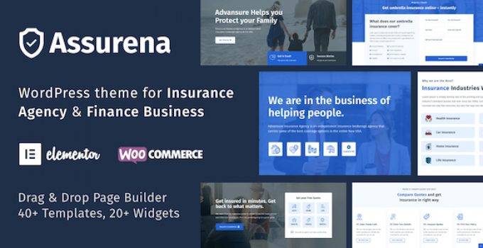 Assurena - Insurance Agency WordPress Theme