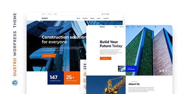 Dustro – Construction Company WordPress Theme FREE Download