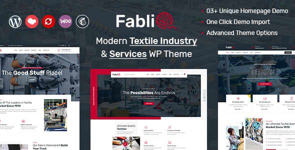 Fablio - Textile Industry WordPress Theme FREE Download | wpnull24