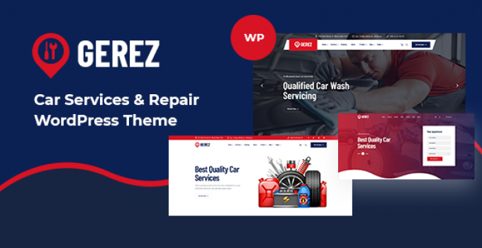 Gerez - Car Services & Repair WordPress Theme