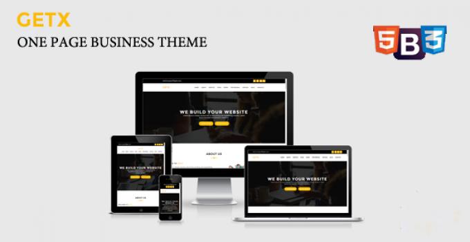 GetX - Onepage Business WordPress Theme