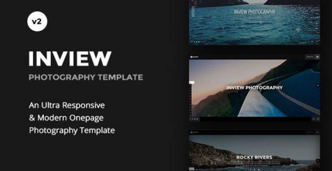 Inview - Full Screen Photography WordPress Theme