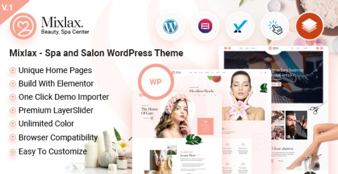 Mixlax - Spa and Salon WordPress Theme