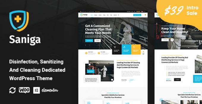 Saniga - Disinfection & Sanitizing WordPress Theme