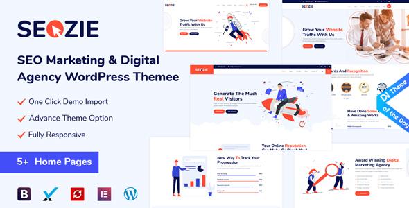 Seozie - SEO & Digital Marketing WordPress Theme FREE Download