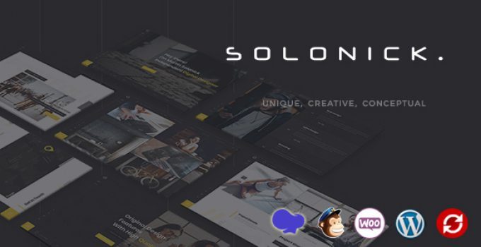 Solonick - Personal Portfolio WordPress Theme