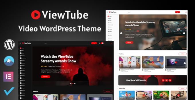 ViewTube | Video WordPress Theme