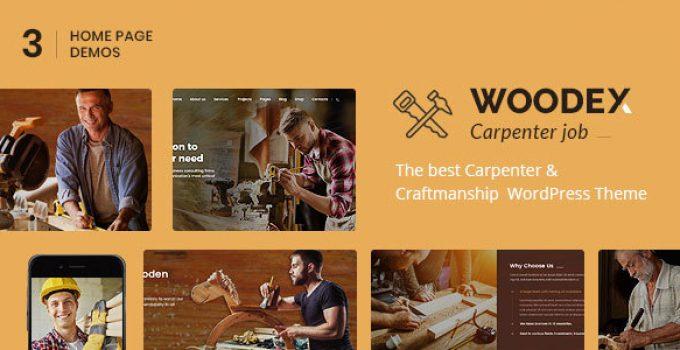 Woodex - Carpenter and Craftman Business WordPress Theme