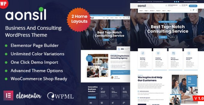 Aonsil - Business Consulting WordPress Theme