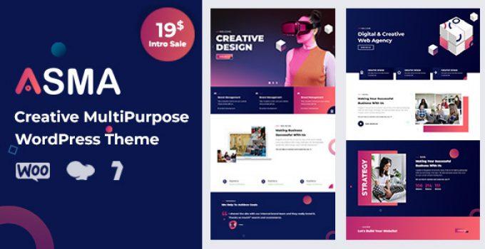 Asma - Creative Agency WordPress Theme