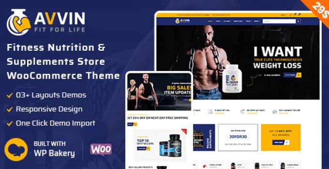 Avvin - Supplement Store WooCommerce Theme