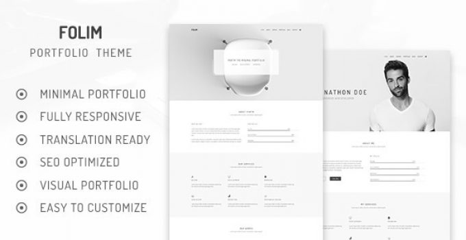 Folim - Clean Minimalist Portfolio WooCommerce WordPress Theme