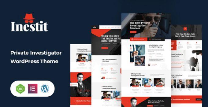 Inestit - Private Investigator WordPress Theme