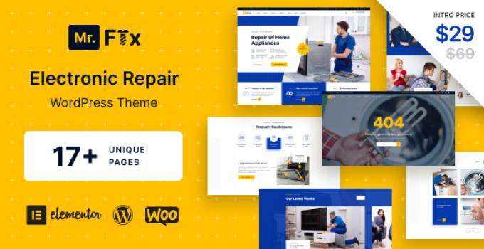 MrFix - Electronic Repair WordPress Theme