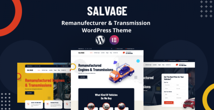 Salvage - Remanufacturer WordPress Theme