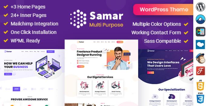 Samar | Creative Agency WordPress Theme