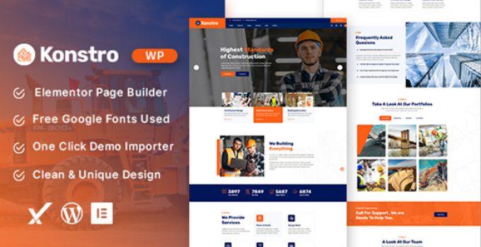 Konstro – Construction WordPress Theme