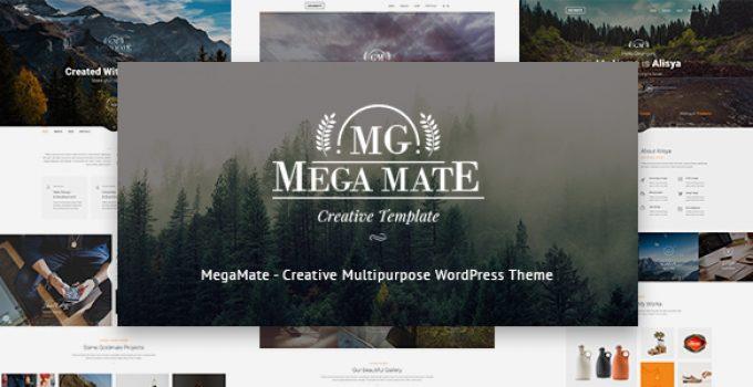 MegaMate - Creative Multipurpose WordPress Theme