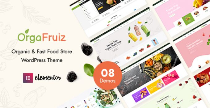 OrgaFruiz - Organic & Food WooCommerce Theme