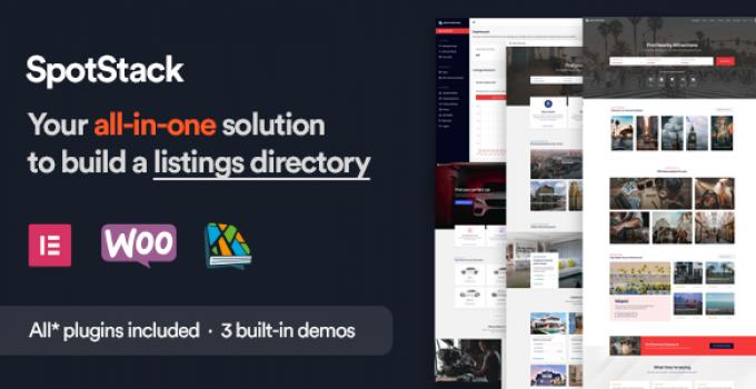 SpotStack - Directory & Listing WordPress Theme