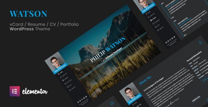 Watson - CV Resume WordPress Theme