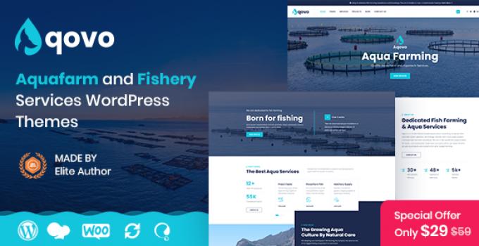 Aqovo - Aqua Culture Services WordPress Theme