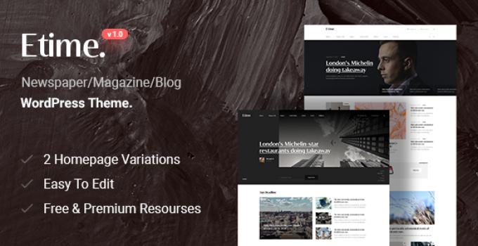 Etime - Blog & Magazine WordPress Theme