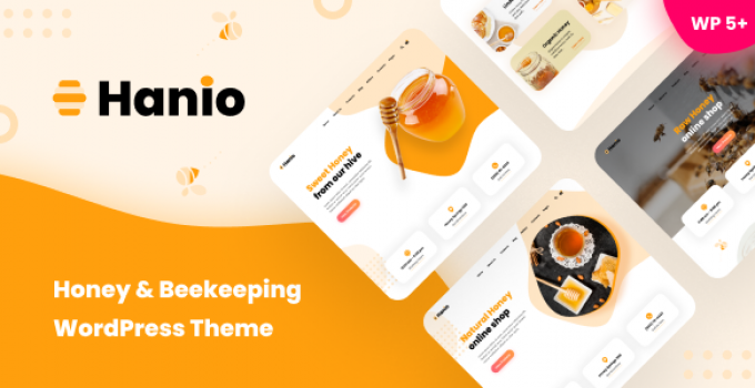 Hanio - Honey Shop WordPress Theme