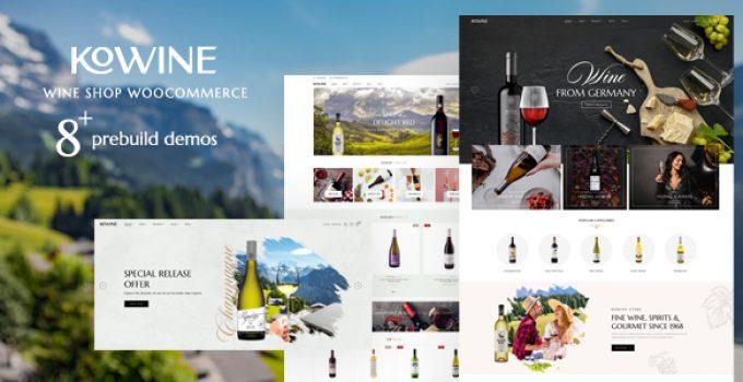 Kowine – Wine Store WordPress Theme