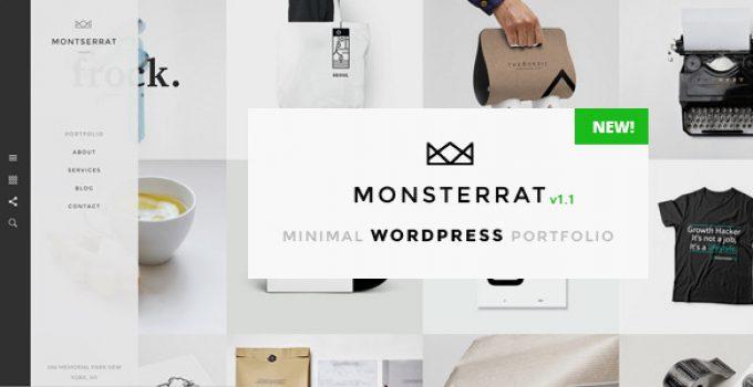 Monsterrat - Minimal WordPress Portfolio Theme