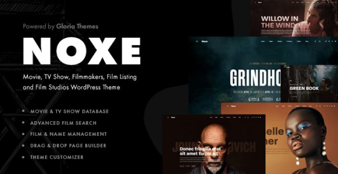 Noxe - Movie Studios and Filmmakers Theme