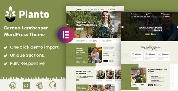 Planto - Landscape Gardening WordPress Theme