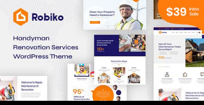 Robiko - Handyman Renovation Services WordPress
