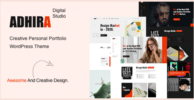 Adhira - Creative Portfolio WordPress Theme