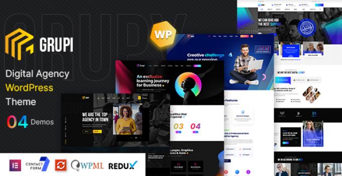 Grupi - Digital Agency WordPress