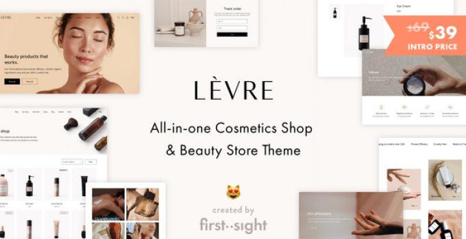 Levre — Cosmetics Beauty Shop Theme