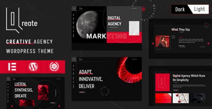 Qreate   Creative Agency WordPress Theme