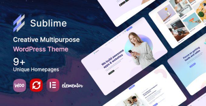 Sublime | Creative Multipurpose WordPress Theme
