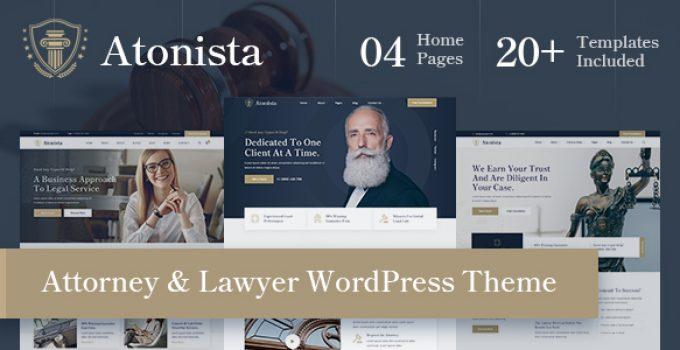 Atonista - Lawyer & Attorney WordPress Theme