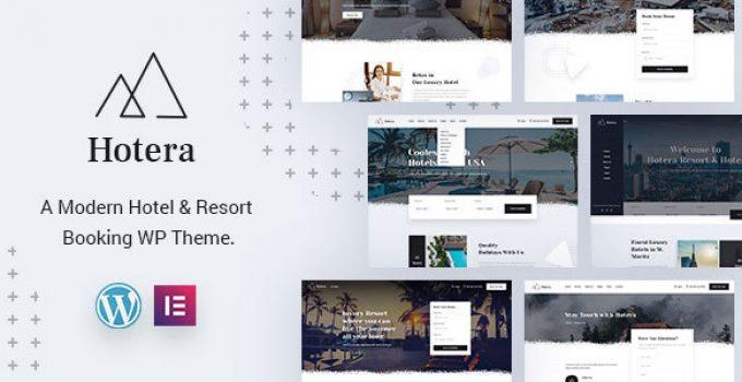 Hotera : Resort and Hotel WordPress Theme