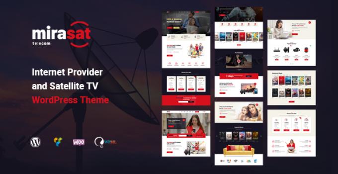 Mirasat - Internet Provider and Satellite TV WordPress Theme
