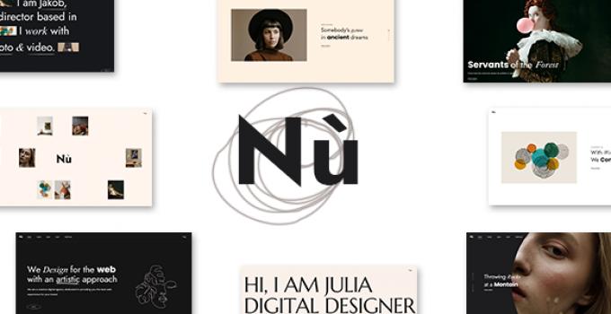Nù - Creative Portfolio WordPress Theme